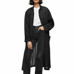 NEW Anine Bing Silk Zoey Trench Duster Jacket